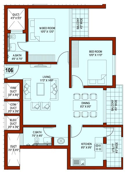 1500 square feet indian house plans 1500 sf house plans